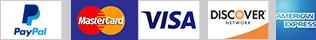 Axiom Accepts Visa, Mastercard, Discover, American Express, Paypal