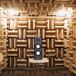 Axiom's M22 Bookshelf Speakers in an Anechoic Chamber